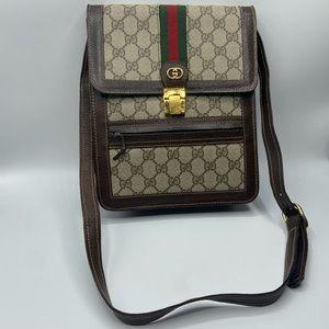 Gucci Vintage PARFUMS GG Canvas  Flap Shoulder Bag